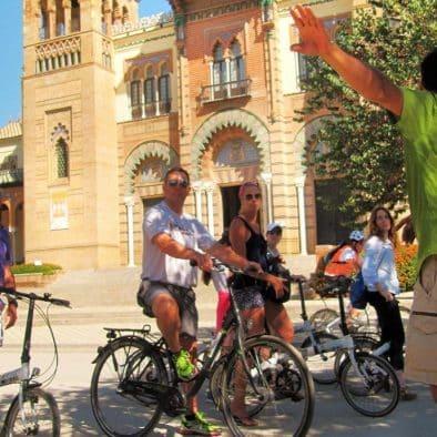 seville à vélo en français