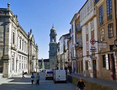 43116820Postal de Santiago de Compostela-calle de san francisco