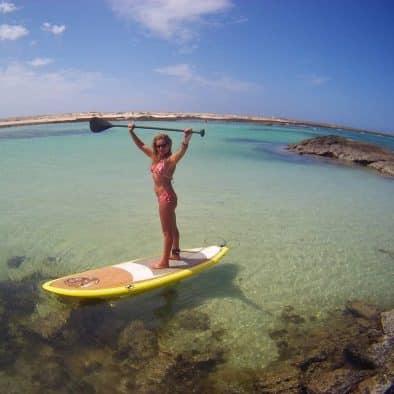 cours de paddle surf à gran canaria